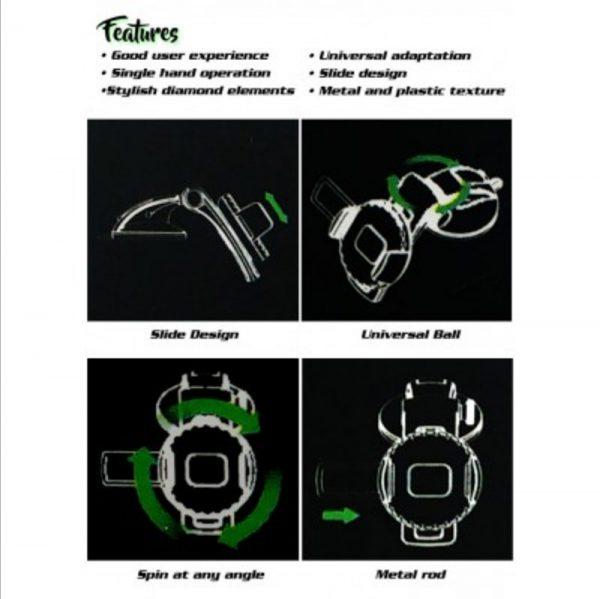 Držač telefona vacuum silikon