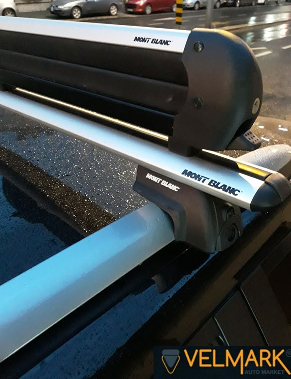 Aluminijumski krovni nosač - adapter za 4 para skija Mont Blanc
