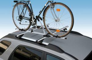 Aluminijumski krovni auto nosač bicikla sa zaključavanjem bicikla i samog nosača Nordrive