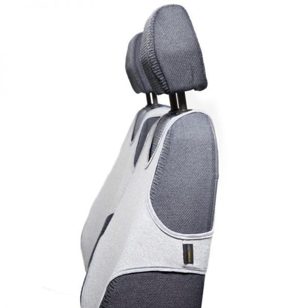 Presvlake pamučne majce za prednja sedišta - SIVA