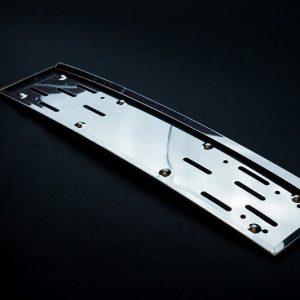 Ram za tablice metalni inox lux zakrivljeni - obli